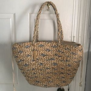 United Colors of Benetton Straw beach bag